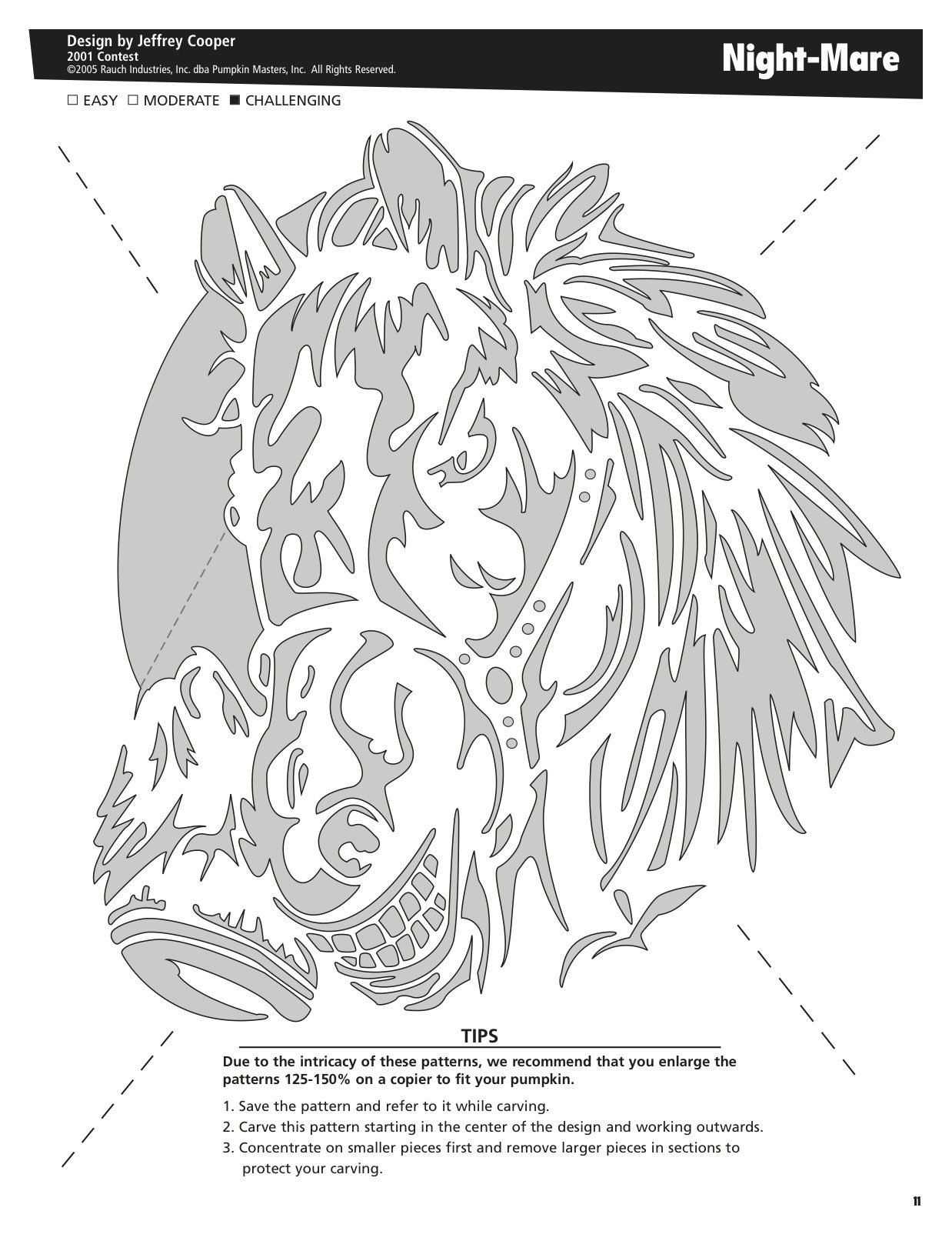 Night-Mare free pattern by Pumpkin Masters. Want to print this out ...