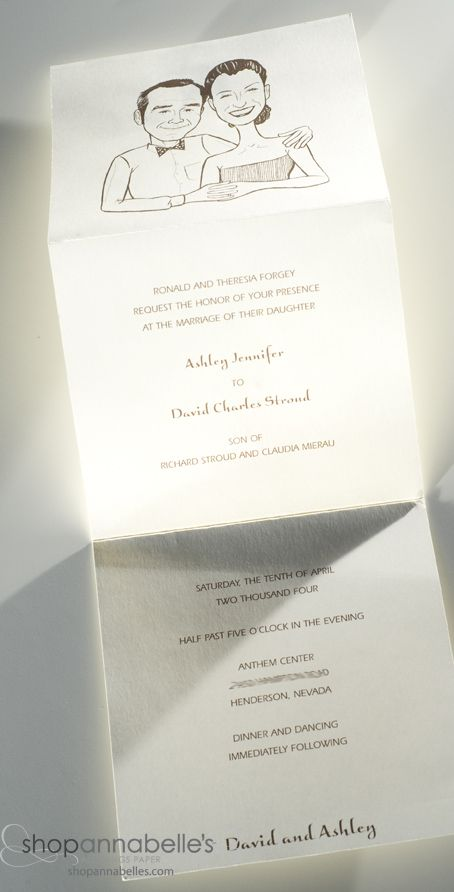 Bring a smile to your guests with this wedding invitation