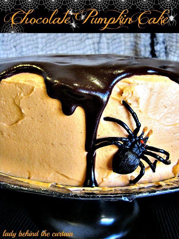 Chocolate Pumpkin Cake - Lady Behind the Curtain
