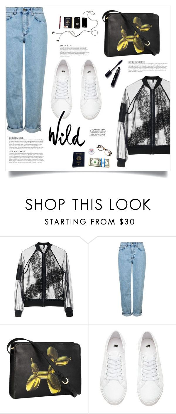 """Wild"" by makeupgoddess ❤ liked on Polyvore featuring Topshop, KAROLINA and H&M"