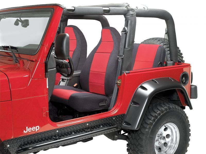 Coverking Front Seat Covers With Rear Cover For 97 02 Jeep