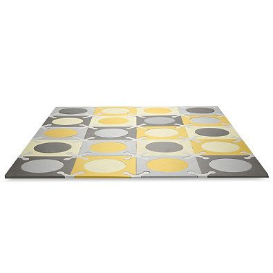 Skip Hop 174 Playspot Interlocking Foam Tiles In Gold And