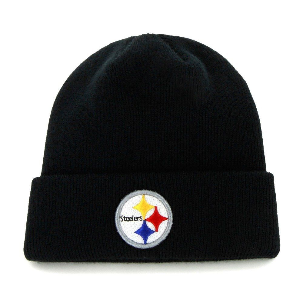 Amazon.com   NFL Pittsburgh Steelers  47 Raised Cuff Knit Hat 96ce644cb67