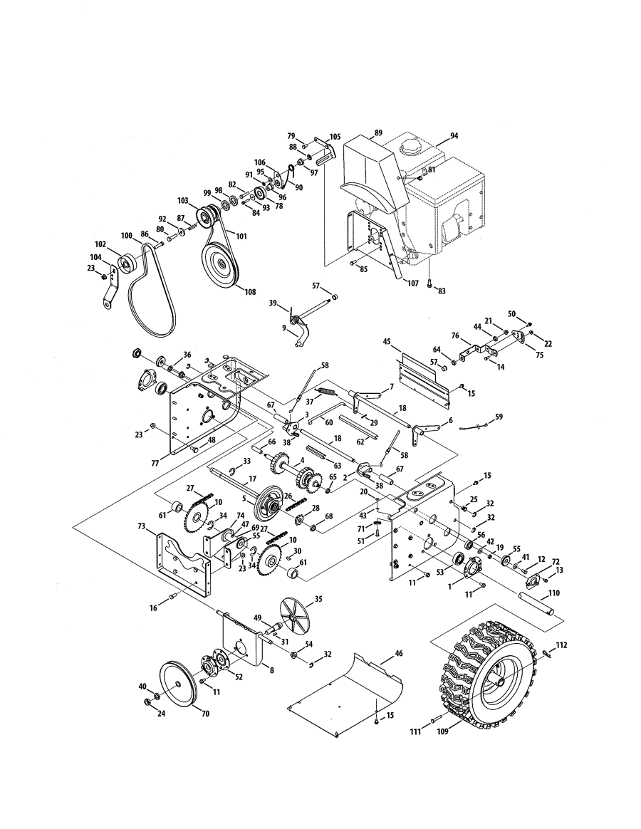 Model 247883971 Craftsman Snowthrower Parts Craftsman Lawn Mower Parts Gas Snow Blower Craftsman