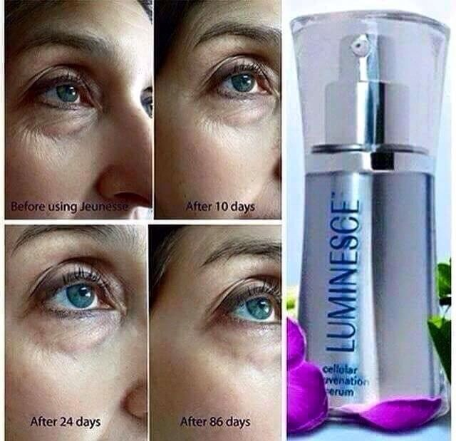 Magic in a bottle, Luminesce Cellular Rejuvenation Serum. Works at the cellular level with proven results! For more information visit www.jfritsch.jeunesseglobal.com/  You will be glad you did!