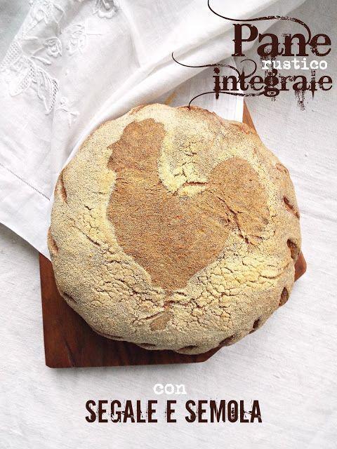 Pane rustico integrale con segale e semola e lievito madre