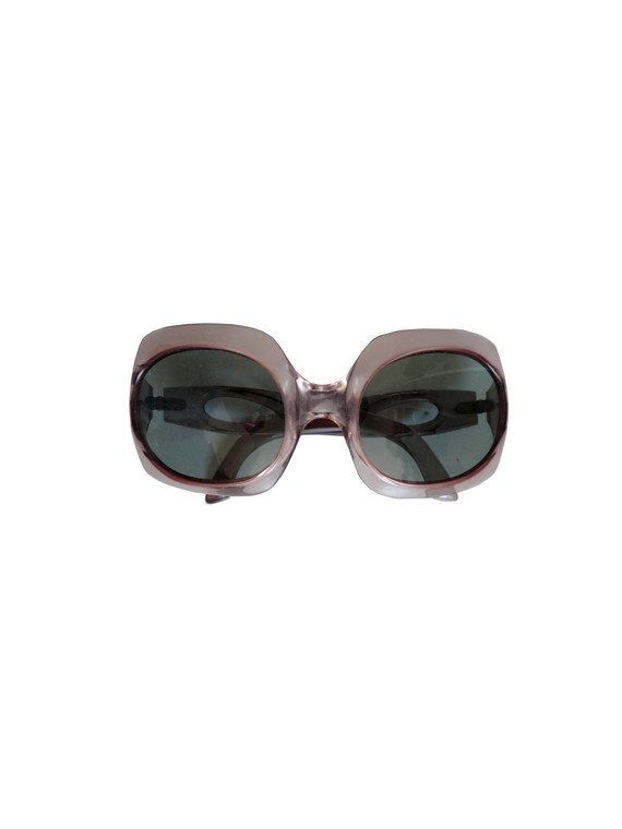 70's Round Sunglasses / Oversized Sunglasses / 1970s Sunglasses