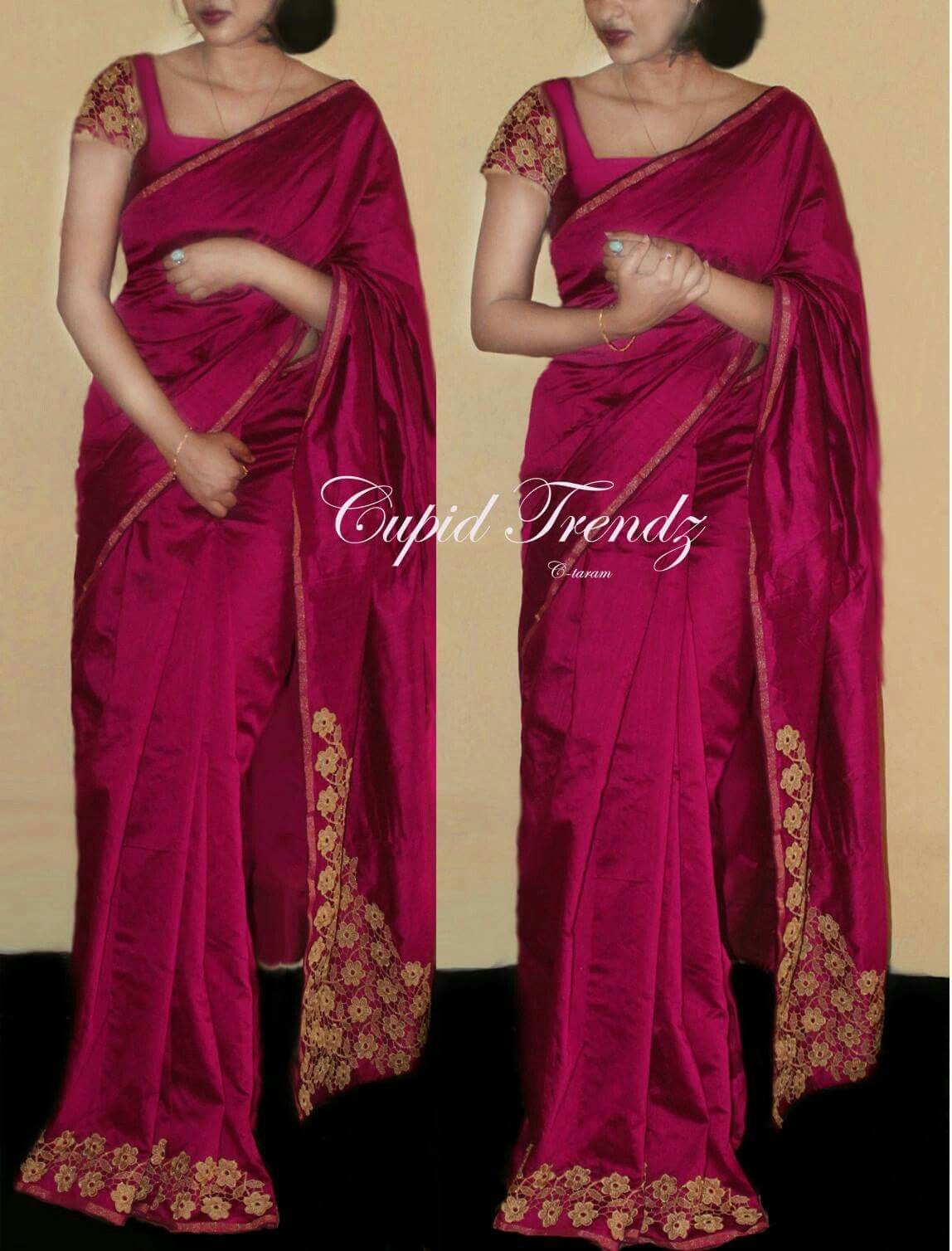 chiffon blouse styles pinterest lafemme stuff worth buying saree models 9727