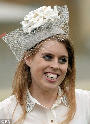 Princess Beatrice joined her grandmother's garden party at Buckingham Palace today, May 21, 2014,