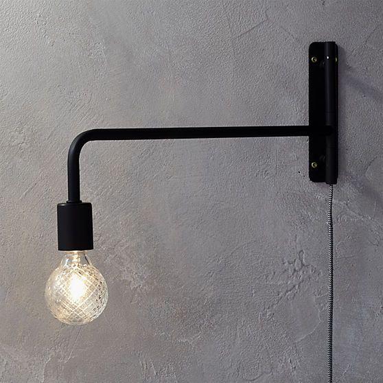 industrial inspired lighting. Industrial Inspired Lighting. Cb2 Swing Arm Black Wall Sconce Lighting A N