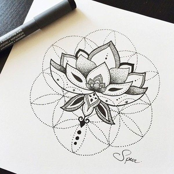 sacred geometry tattoo symbol