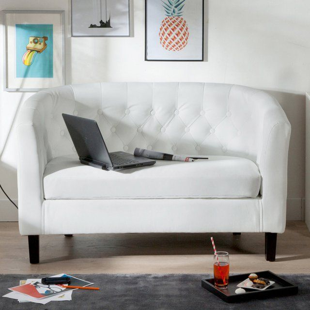 Canape Cuir Blanc 3 Places Kennedy Canape Blanc Cuir Mobilier