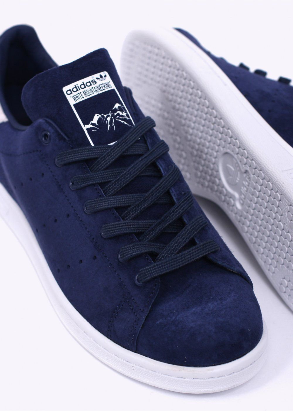 UK Shoes Store - Comfortable x Adidas Originals Stan Smith White Mountaineering Blue Men Dark Blue W