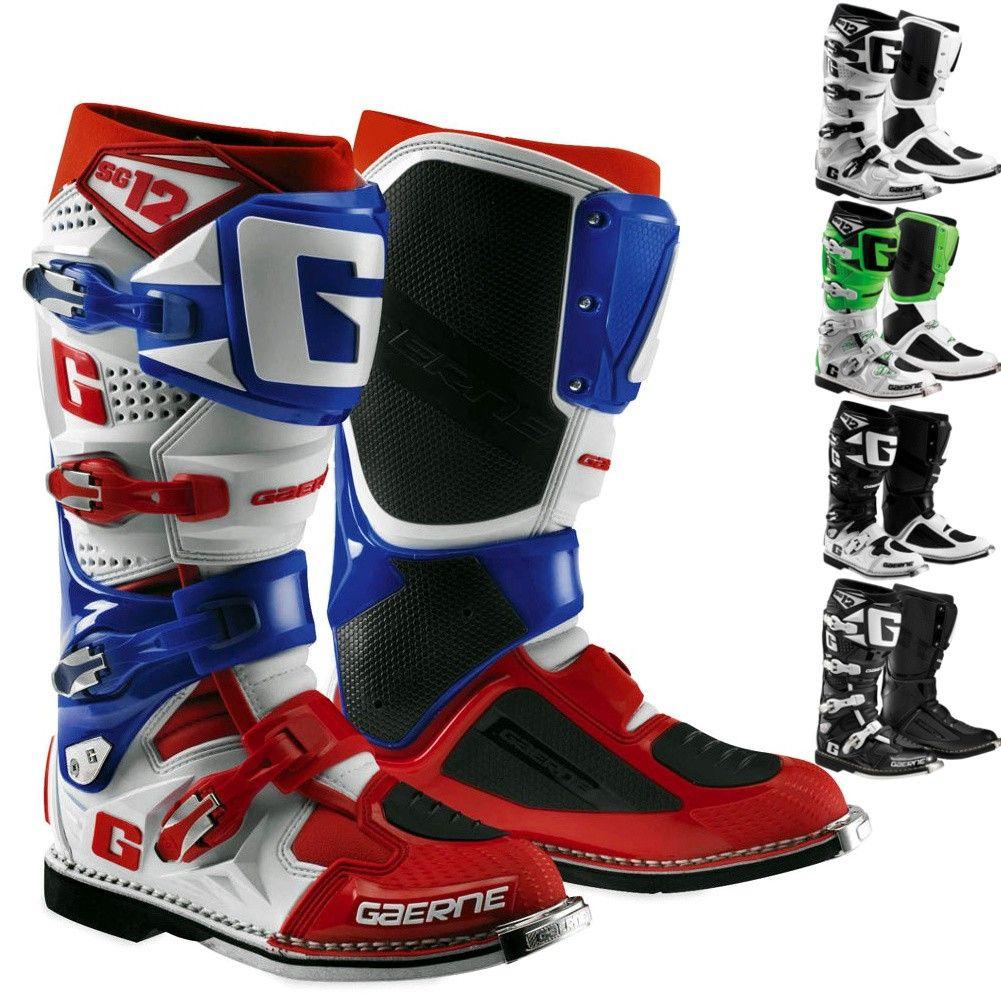 Gaerne Dirt Bike Riding Off Road Mx Gear Sg 12 Motocross Boots