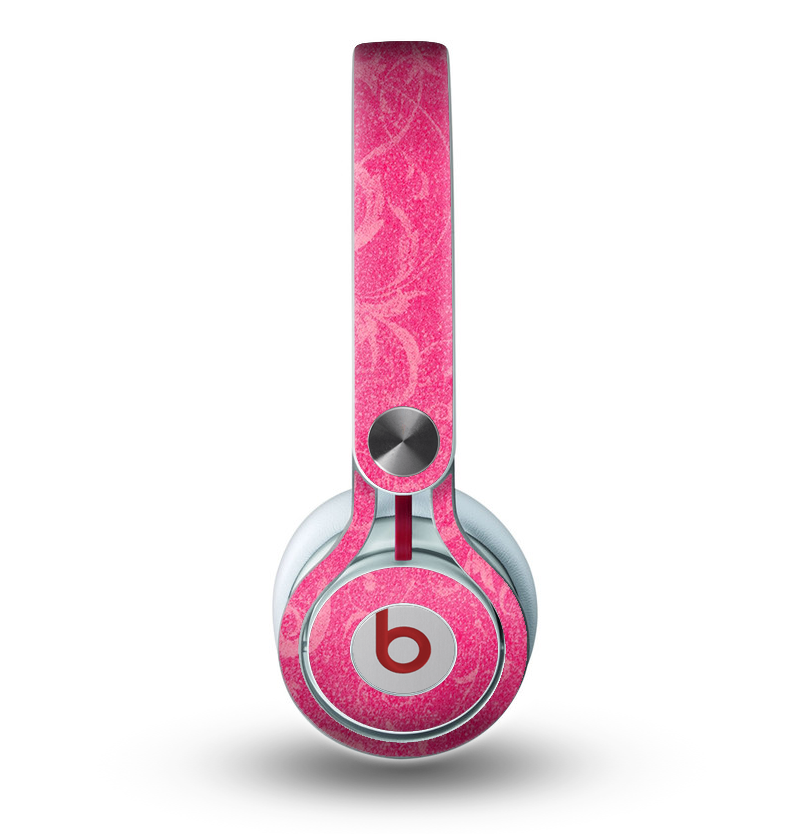 The Subtle Pink Floral Laced Skin for the Beats by Dre Mixr Headphones