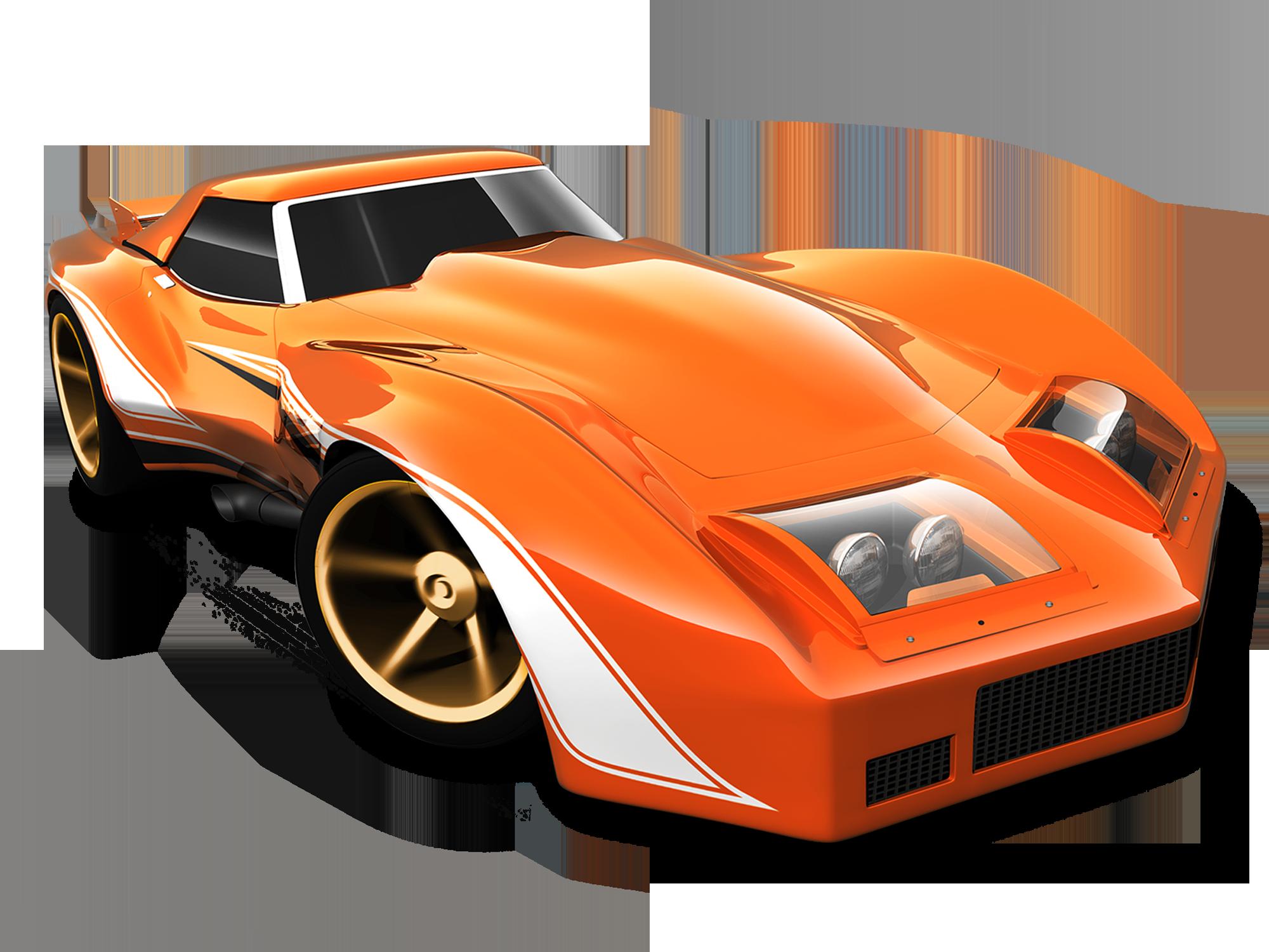 Mattel Hot Wheels Diecast Car 76 Greenwood Corvette 2014 Orange Carros Veiculos Desenhos