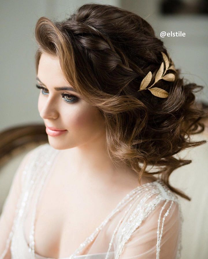 New Hairstyle For Wedding Ceremony: Beautiful Messy Updo Wedding Hairstyle For Romantic Brides