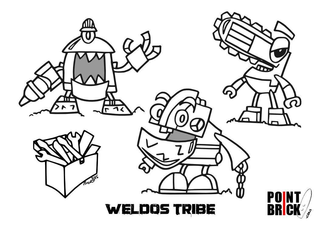 Disegni Da Colorare Lego Mixels Serie 6 Weldos Tribe Lego Mixels Coloring Pages
