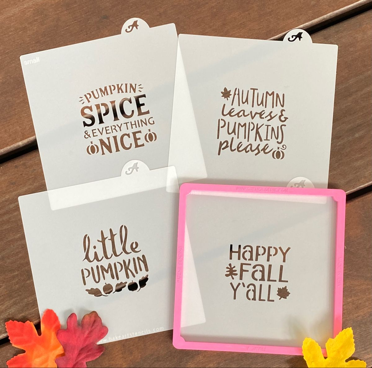 Easily decorate your Fall Cookies with these fun phrase cookie stencils! #decoratedcookies #decoratedsugarcookies #cookiestencils #fallcookies #pumpkincookies