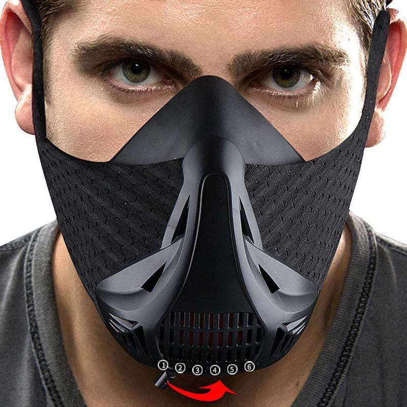 Sport Workout Training Mask High Altitude Elevation Effects Cycling Face Mask Bike Bicycle Running Training Fitnes Biking Workout Face Mask Workout Accessories