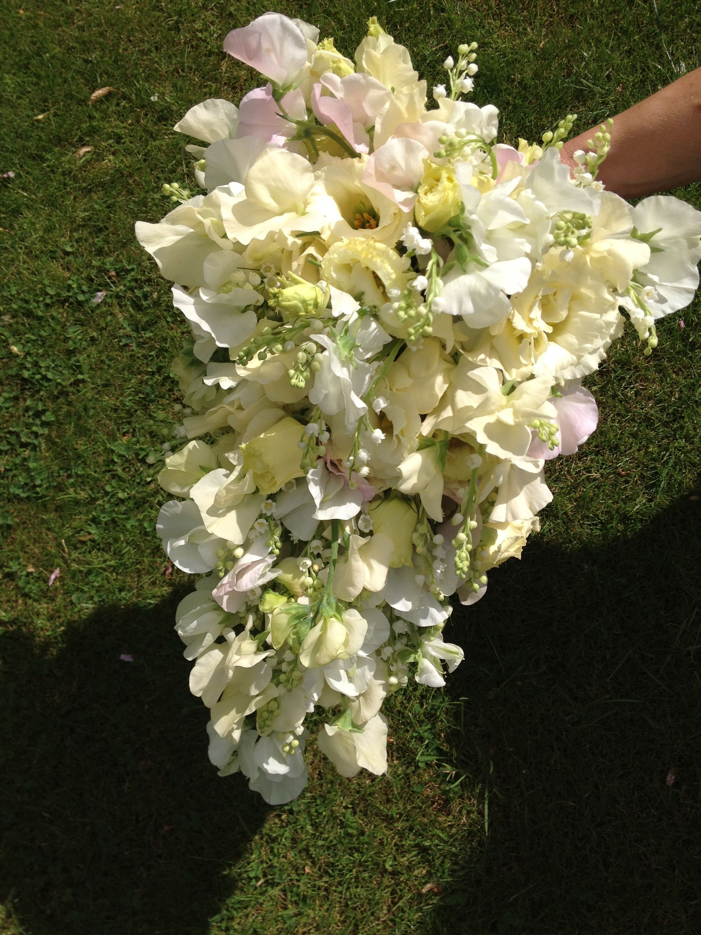 Traditional fully wired bridal bouquet with lily of the valley 1 traditional fully wired bridal bouquet with lily of the valley izmirmasajfo