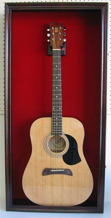 amazonsmile large acoustic guitar display case cabinet. Black Bedroom Furniture Sets. Home Design Ideas