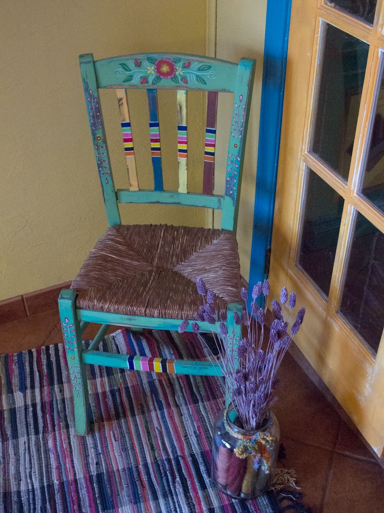 Mexican Folk Art Chair Home In 2019 Painted Chairs