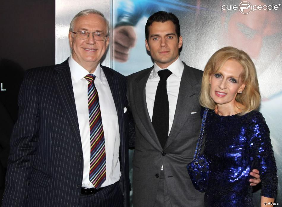 With His Parents