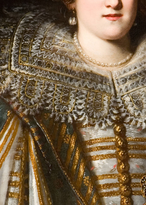 Portrait of a Medici Princess by Justus Sustermans (detail)