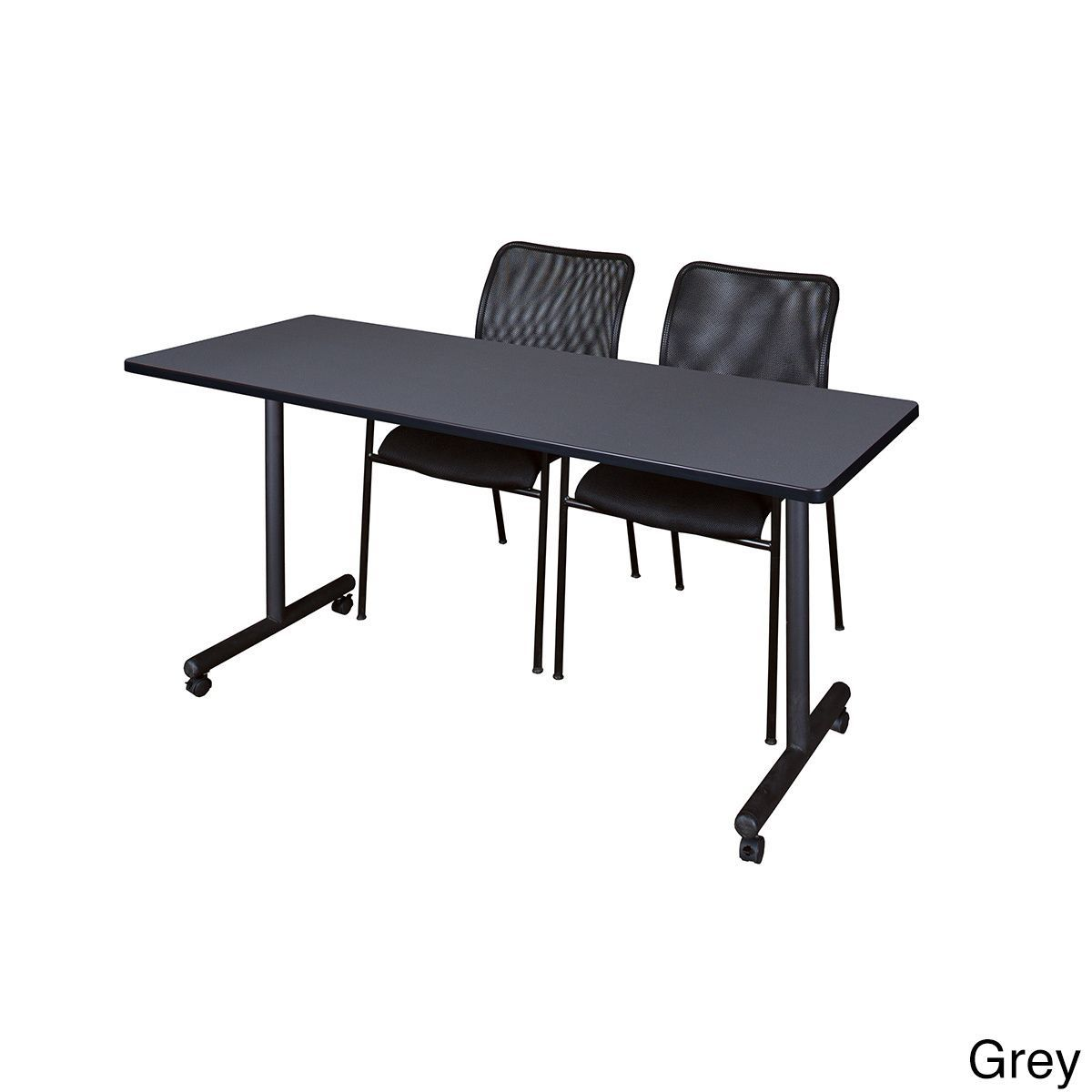 Regency Seating Kobe Mobile Training Table & 2 Mario Stack Chairs