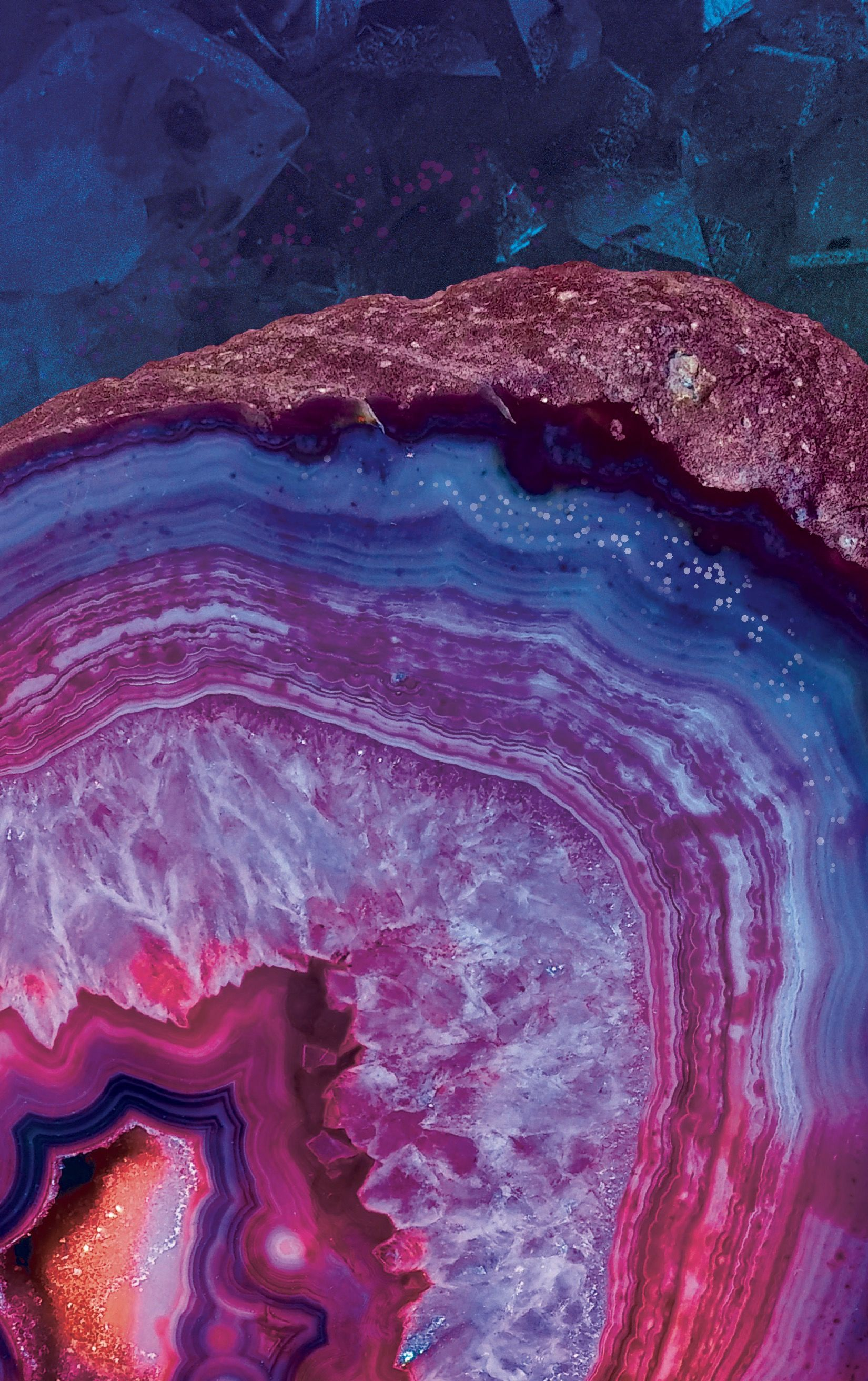'Crystal Geode Mineral Marble Agate Pattern with Pink and