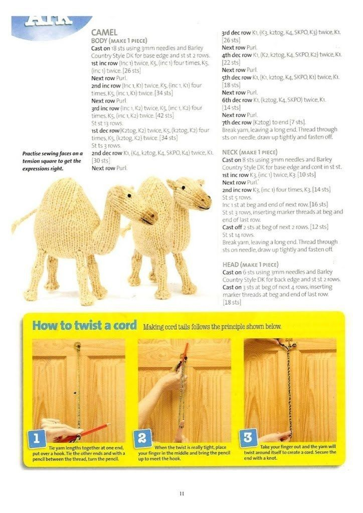 Camel pg 1 | Knitting | Pinterest | Knitting, Knitted animals and ...