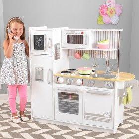 Childrens Wooden Kitchen Sets white uptown expresso play kitchen set   children's wooden toy