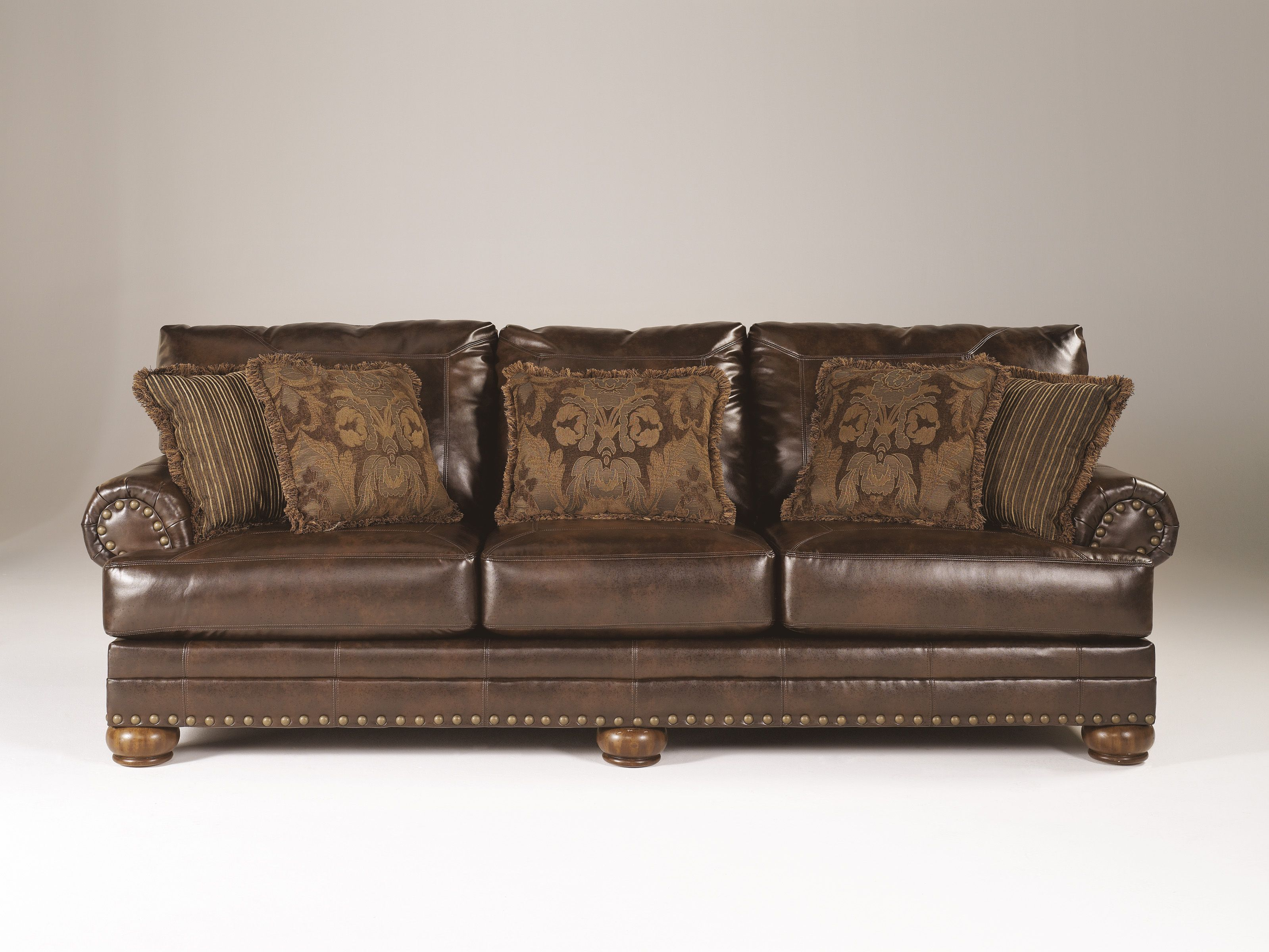 Most sofas run about 87 inches long but this sofa measures a full