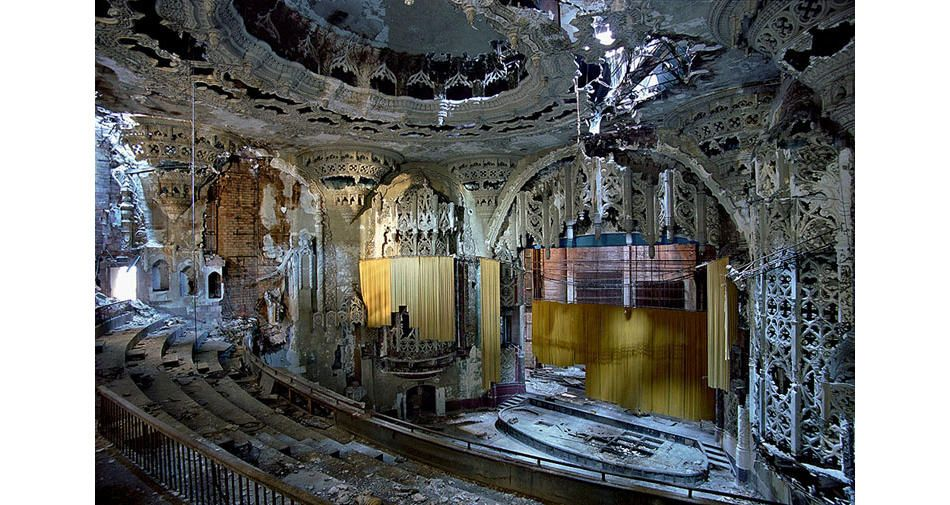Ruins of Detroit... Themes of urban decay do not usually