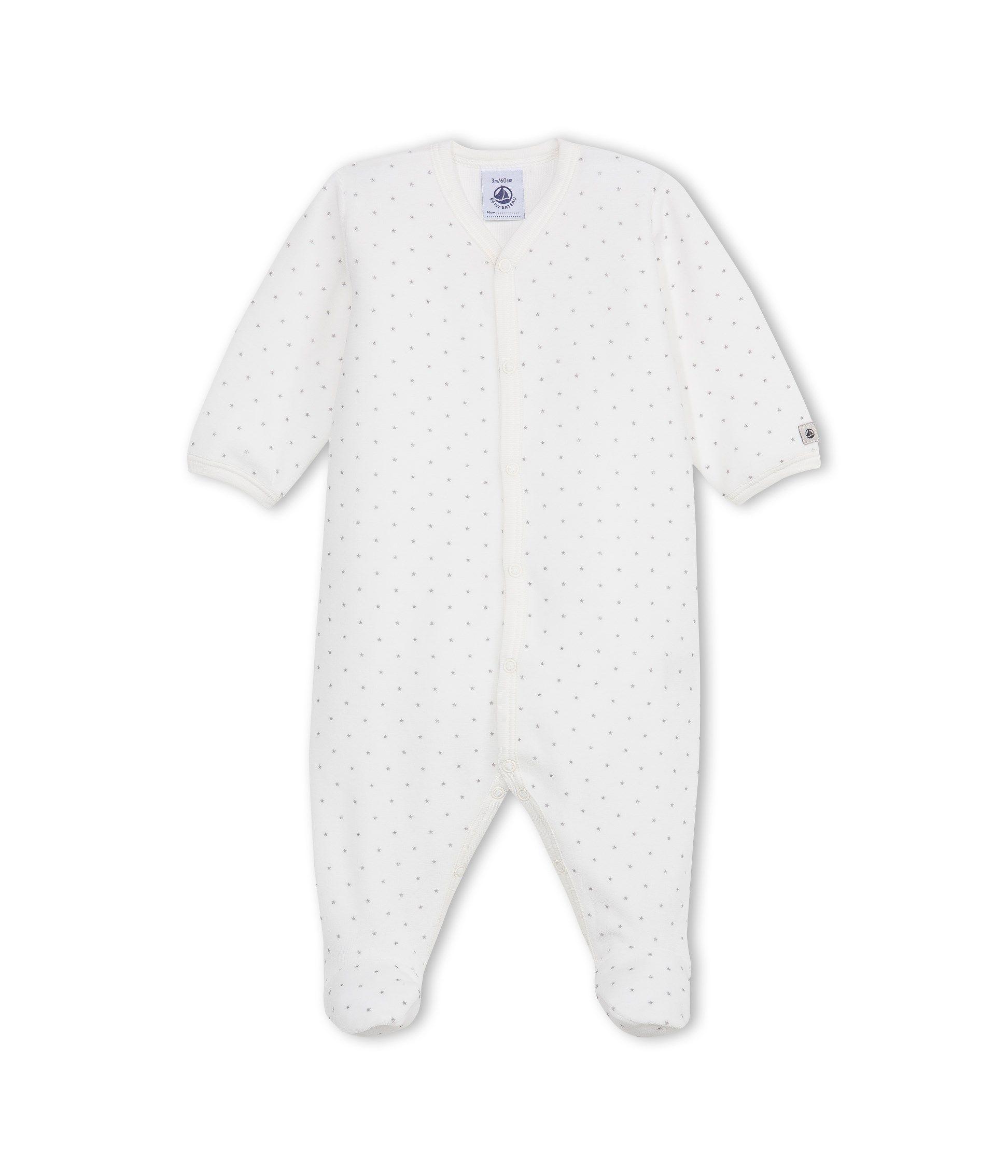 b7767cbcfcbb8 30€ - Dors bien bébé mixte imprimé étoiles blanc Lait   gris Concrete -  Petit Bateau