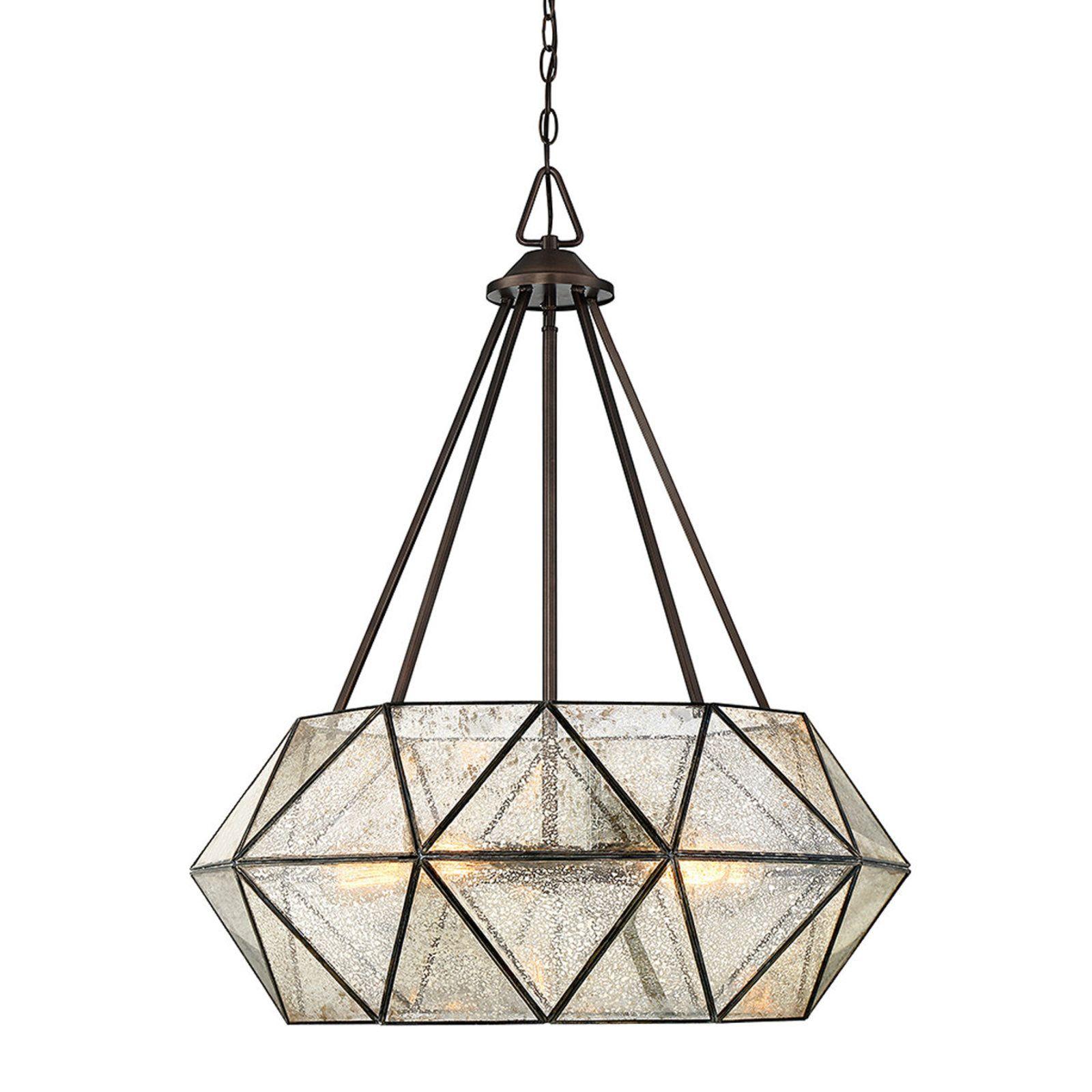 Prism framed mercury glass chandelier 5 light in 2019 middle r
