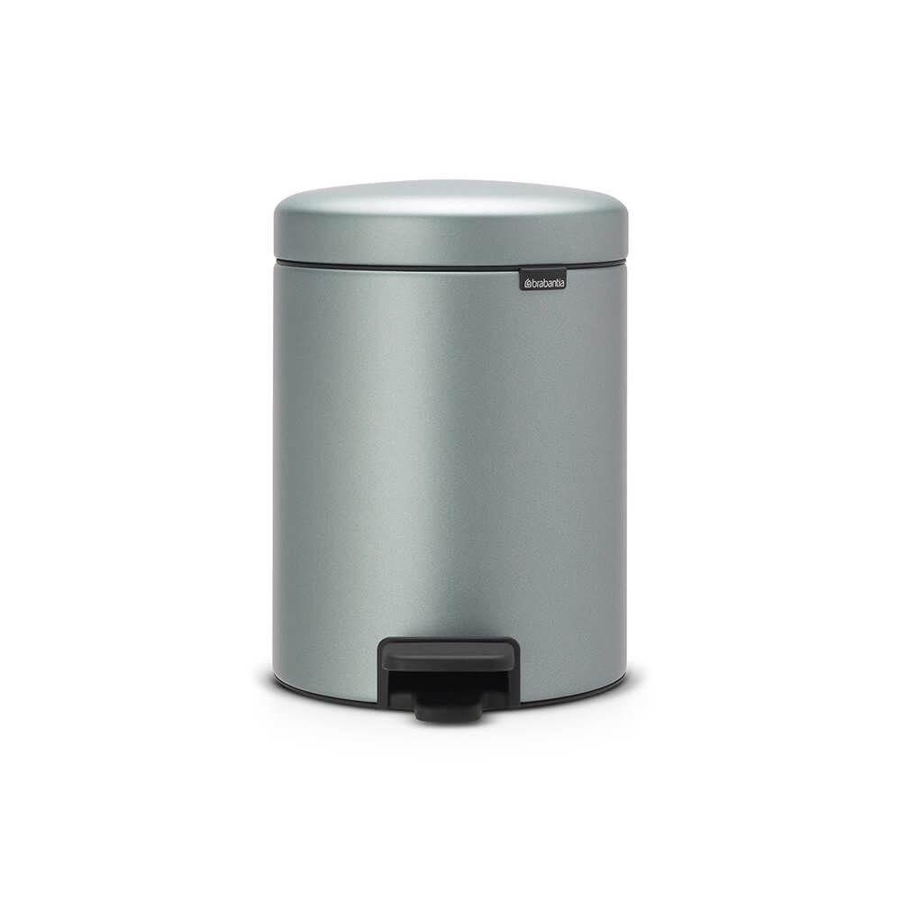Brabantia Wasbox 50 Liter Matt Steel.Pedaalemmer Newicon 5 Liter Kunststof Binnenemmer Metallic Mint