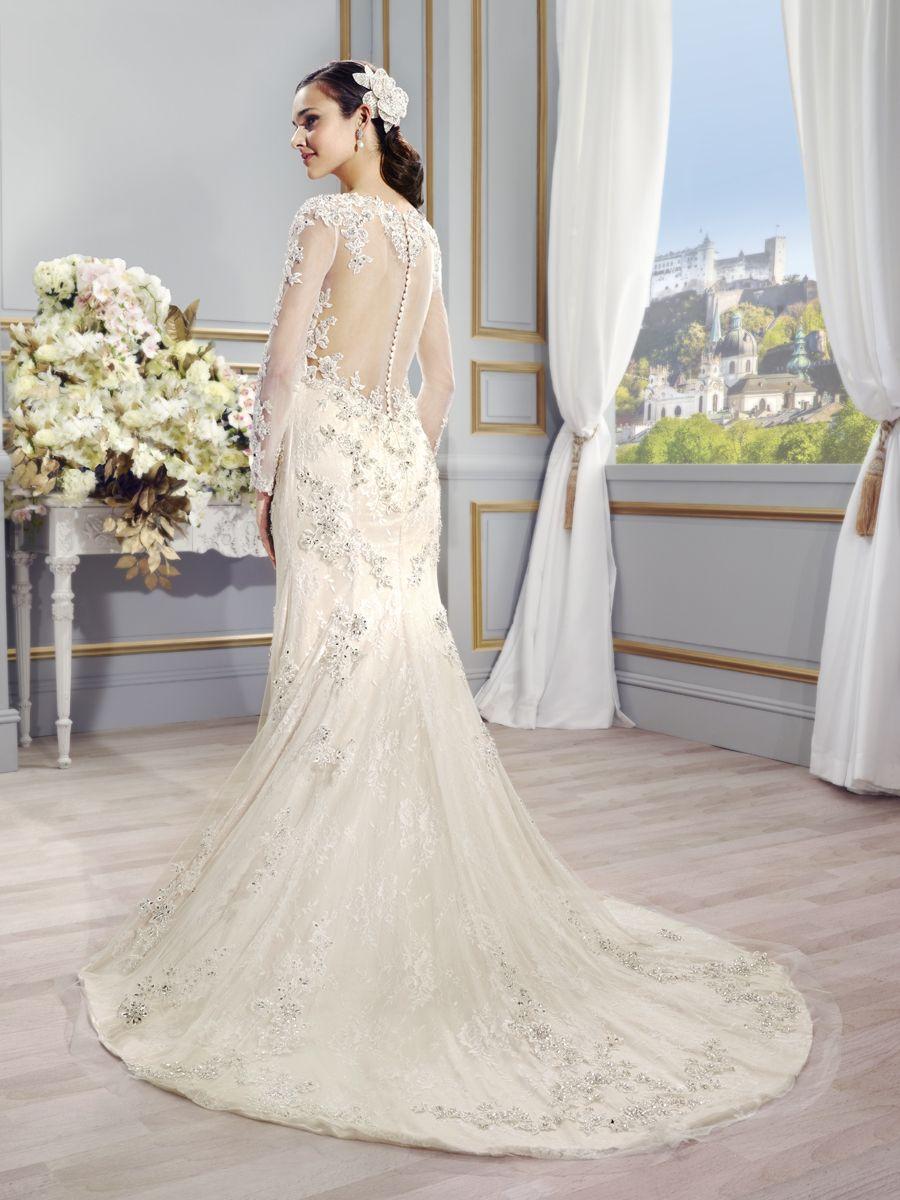 Back detail wedding dress  Val Stefani Style NIA long sleeve wedding dresses Sexy back