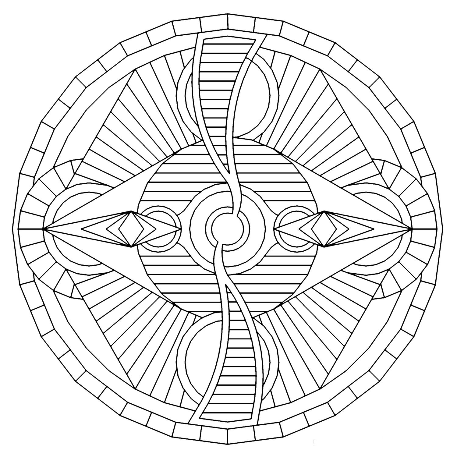 Hexdial_mandala_coloring_pages.jpg | Coloring - Geometrical Designs ...