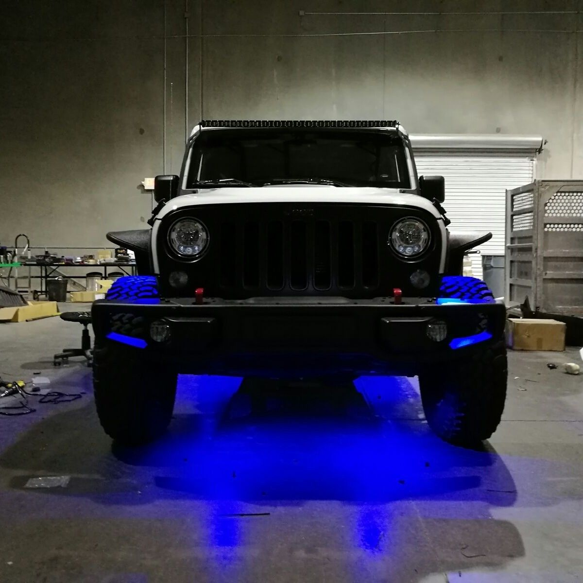 Blue Led Under Body Lights For Jeep Wrangler Jeep Wrangler