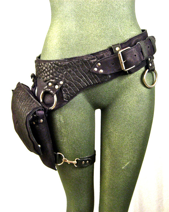 VEGAN+FAUX+leather+hip+bag+thigh+bag+burning+man+by+Renegadeicon,+$158.00 *bites lip with desire* this BAG!! :D