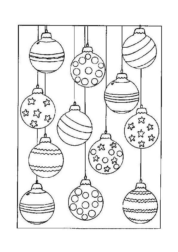Kleurplaten Van Een Kerstbal.Kerstbal Kleurplaat Google Zoeken Kerstmis Kleurplaten