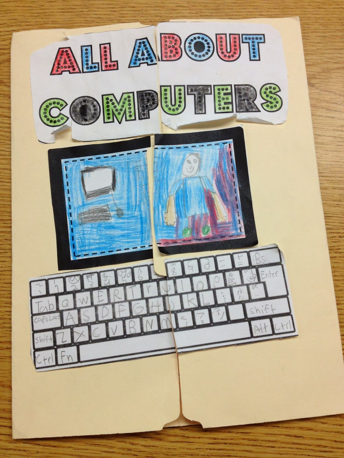All About Computers Lapbook. Basic computer skills for the classroom ...