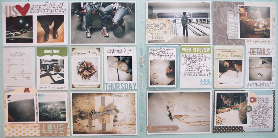 Love the tiny photos, tags and fun framing of this. By Marcy Penner