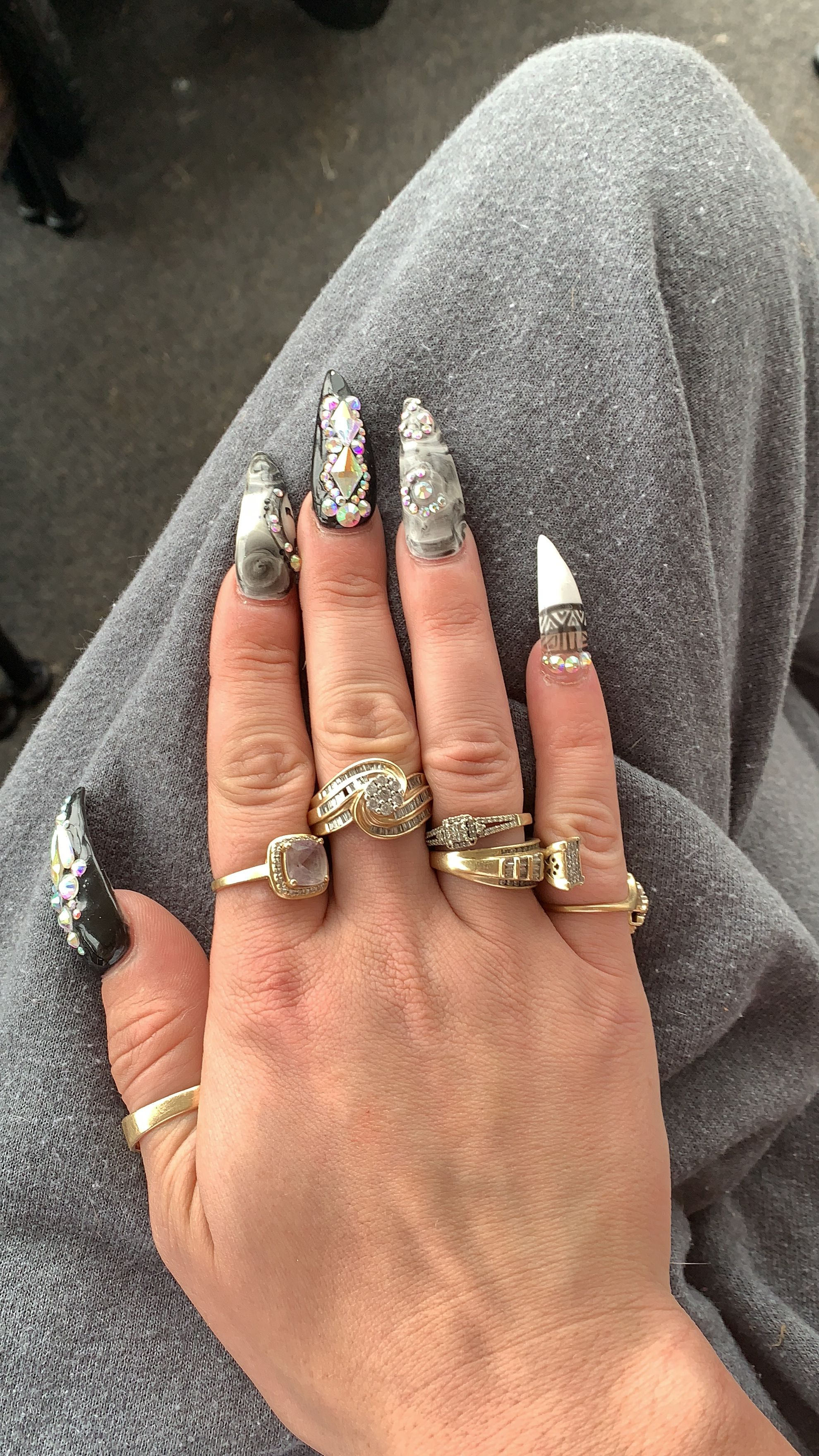 Halloween designs | Pointy nails, Nails, My nails