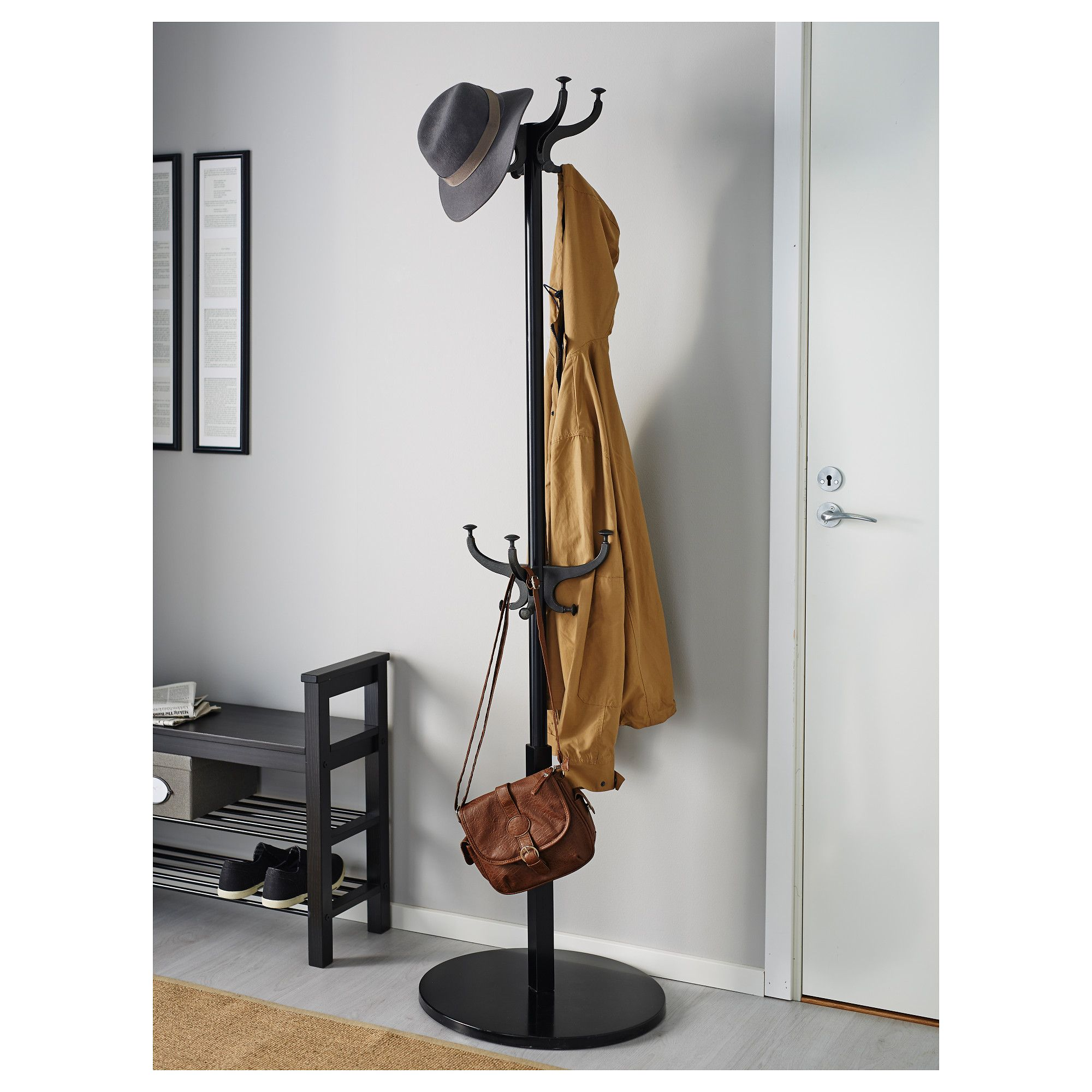 Effective Ikea Coat Rack Designs For Your Mudroom Stylish Home Design With Three Tier Shoe Storage And Free Standing Two Ideas