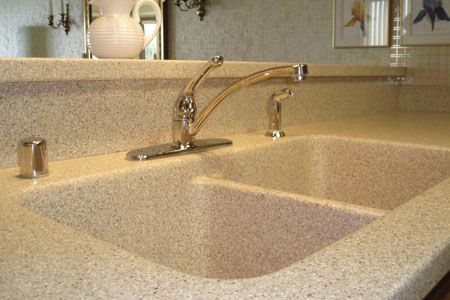 Solid Surface Seamless Kitchen Countertops Sinks Bowl Edge