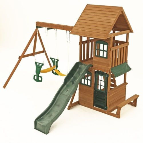 Big Backyard Windale Wooden Cedar Swing Set Playground Outdoor Kids