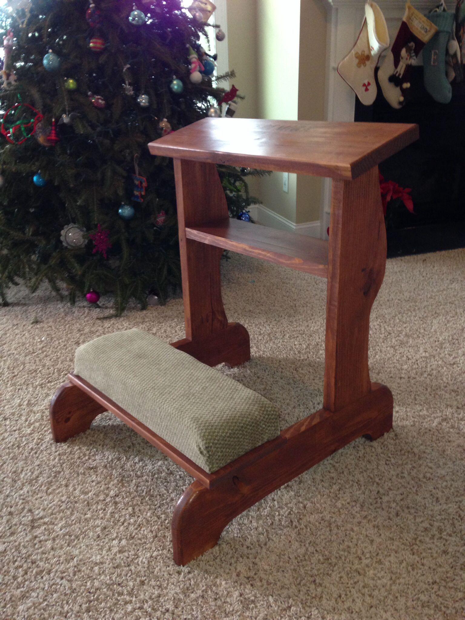 Prayer kneeler, special order | Woodworking, Woodworking ...